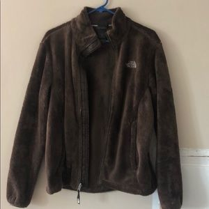 Beautiful brown north face fuzzy jacket